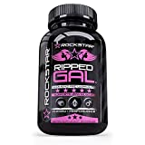 Ripped Gal – Pre-Workout Pills by Rockstar, Premium Muscle Building Nitric Oxide Booster with L-Arginine, Rhodiola, Maca, and Muira Puama – 60 Veggie Caps