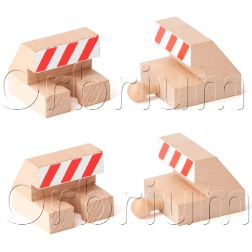 Orbrium Toys Track End Bumper Buffer Set Compatible with Thomas Brio Chuggington