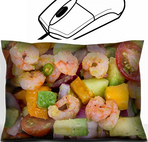 MSD Mouse Wrist Rest Office Decor Wrist Supporter Pillow design: 30744754 Shrimp and avocado summer salad