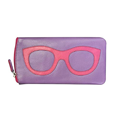 eb3666b2302 Amazon.com  ili New York 6462 Leather Eyeglass Case (Amethyst Hot ...