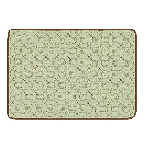 C&F Home Circle Rings Green Single Placemat Rectangular Placemat Green