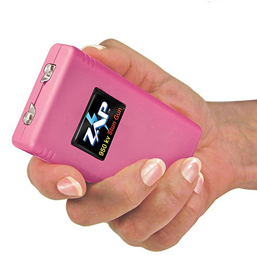 ZAP 950P Stun Gun 950,000V with Holster & Batteries, Pink ()