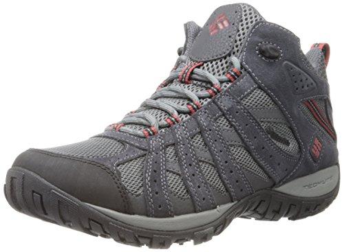 Columbia Men's Redmond Mid Waterproof Trail Shoe, Charcoal/Garne, 11 D US