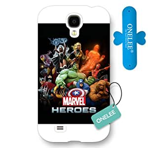 Onelee Customized Marvel Series Case for Samsung Galaxy S4, Marvel Comic Hero The Avengers Samsung Galaxy S4 Case, Only Fit for Samsung Galaxy S4 (White Frosted Case)