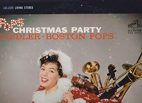 Pops Christmas Party by Arthur Fiedler Boston Pops Record Album Vinyl LP (Pops Boston Christmas Album The)