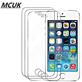 iPhone 5S / 5 / SE / 5C Screen Protector, MCUK [HD Ultra Clear Film] [9H Hardness] [Bubble-Free] [Scratch-Resistant] Premium Tempered Glass Screen Protector for Apple iPhone 5S / 5 / SE / 5C (3-Pack)
