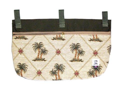 Handi Pockets 2c6ip Storage Accessory Walker, Tapestry, Island Palm with Zipper