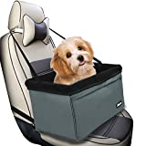 Jespet Dog Booster Seats for Cars, Portable Travel Pet Car Seat Carrier with Seat Belt for 15lbs Pets