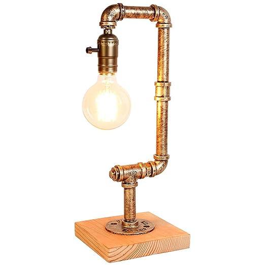 Lámpara de mesa retro Edison lámpara de tubo de agua de ...