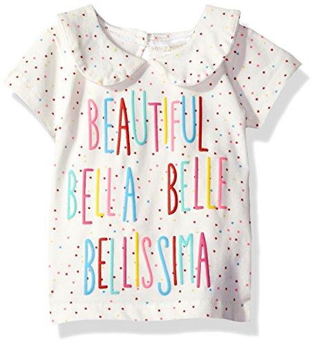 Rosie Pope Baby Girls' Beautiful Tee, White/Multi, 18M
