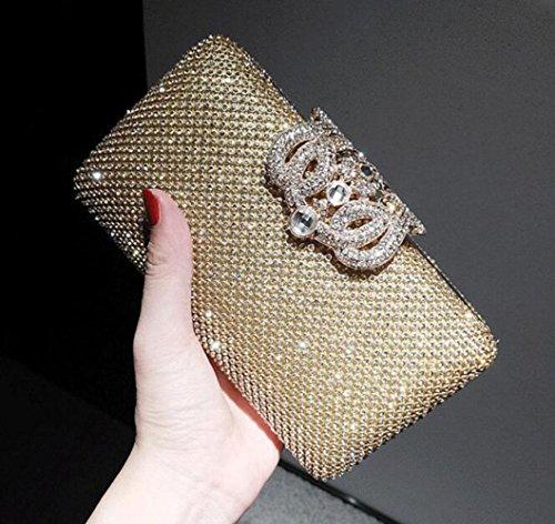 Bag Ladies Fashion Gold Exquis 'Evening Strass Cadeaux Nuptiale Gold GZHGF Mariage wqSpEwd