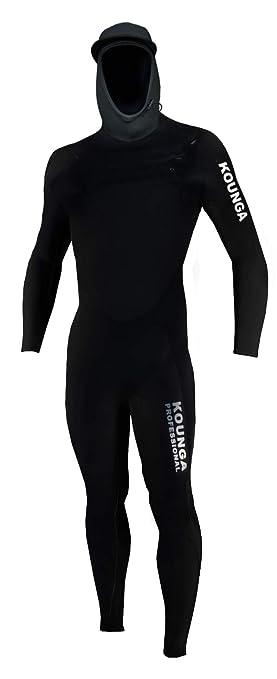 Kounga Pro 5.4 Traje para Surf y Buceo, Hombre, Negro, M