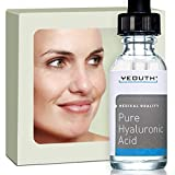Hyaluronic Acid Serum for Face - 100% Pure Medical Quality Clinical Strength Formula! Satisfaction Guaranteed. Holds 1,000 Times Its Own Weight in Water - Plumps and Hydrates - All Natural