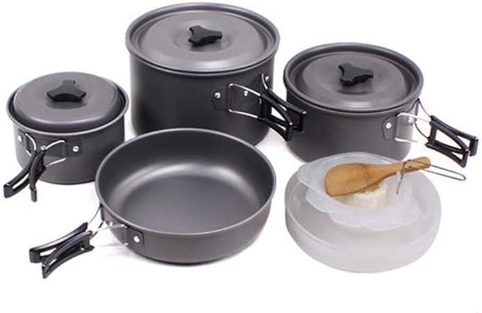 Utensilios Cocina Camping Kit 14 pcs Trekking Kit for 3-4 ...