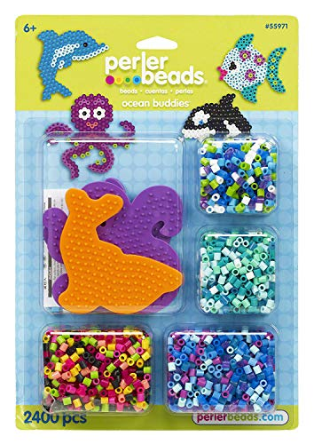 Perler Beads Ocean Buddies Ocean Bead Activity Crafts for Kids, 2400 pcs