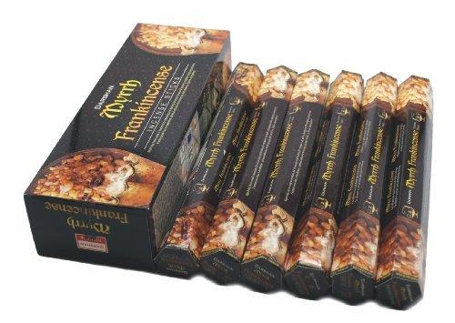 Frankincense & Myrrh - 120 Sticks Box - Darshan Incense