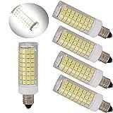 75 watt ceiling fan bulbs - Ulight E11 led bulb 75W 100W halogen bulbs replacement,850 lumens, jd e11 mini candelabra base 110V 120V 130 voltage input, daylight white 6000K pack of 4 (Daylight White 6000K)
