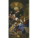 Canvas Prints Of Oil Painting 'Maino Friar Juan Bautista The Adoration Of The Magi 1611 13' 8 x 15 inch / 20 x 37 cm , Polyster Canvas Is For Gifts And Bed Room, Gym And Powder Room Decoration, small