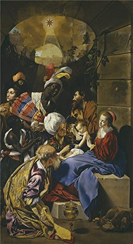 'Maino Friar Juan Bautista The Adoration of the Magi 1611 13 ' oil painting, 16 x 29 inch / 41 x 74 cm ,printed on Perfect effect canvas ,this Vivid Art Decorative Canvas Prints is perfectly suitalbe for Study gallery art and Home gallery art and Gifts