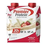 Premier Protein 30g Protein Shakes, Strawberries & Cream, 11 Fluid Ounces, 48 Count