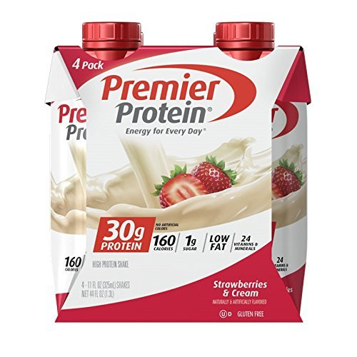 Premier Protein 30g Protein Shakes, Strawberries & Cream, 11 Fluid Ounces, 48 Count by Premier Protein