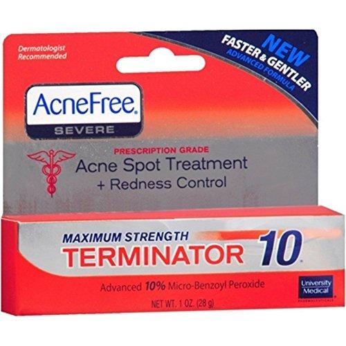 Acnefree Spot Treatments Terminator 10 Maximum Strength 10%,