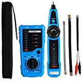 wire tracer tone generator - Professional Wire Tracker RJ11 RJ45 Cable tester for Ethernet LAN Telephone Line Test Network Cable Collation Wire Tracing Continuity Checking Positive/Negative Polarity RING/TIP Line Level Detection