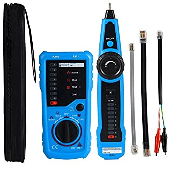 Professional Wire Tracker RJ11 RJ45 Cable Tester for Ethernet LAN Telephone  Line Test Network Cable Collation Wire Tracing Continuity Checking