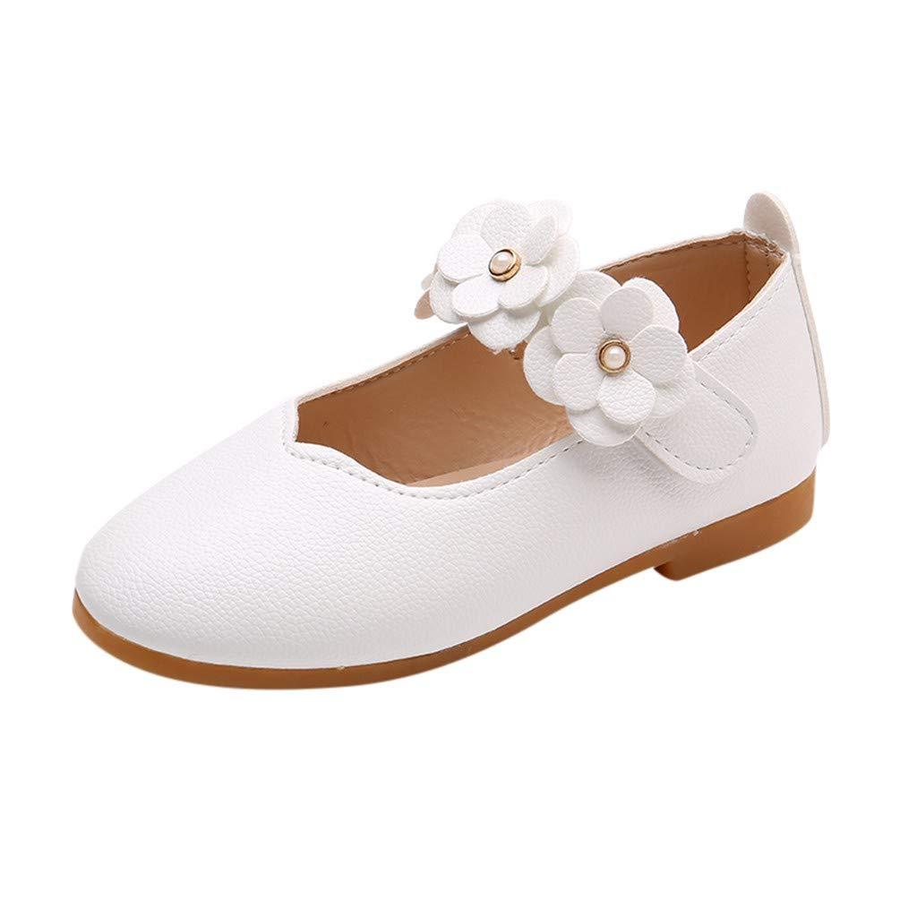 Princess Dance Sandals Girls Flowers Shallow Mouth Velcro Peas Single Shoes