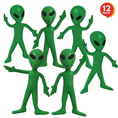 ArtCreativity Bendable Alien Figures, Set of 12 Flexible Men, Birthday Party Favors for Boys and Girls, Stress Relief…