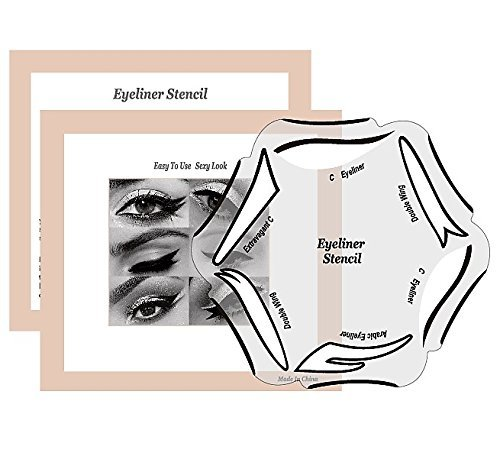 6 Styles of Eyeliner Stencil Models for the perfect Eyeline, Cat Eyeliner, Double Wing, Extravagant Cat, Arabic - Cat Wing