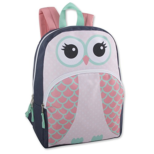 Kids Animal Friends Critter Backpacks For Boys & Girls With Reinforced Straps (OWL)