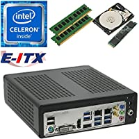 E-ITX ITX350 Asrock H270M-ITX-AC Intel Celeron G3930 (Kaby Lake) Mini-ITX System , 16GB Dual Channel DDR4, 480GB M.2 SSD, 1TB HDD, WiFi, Bluetooth, Pre-Assembled and Tested by E-ITX