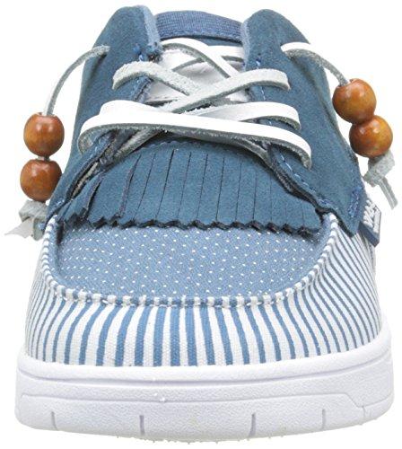 WAU Tijuana, Damen Sneaker, Beige (Beige), Blau (Blue)
