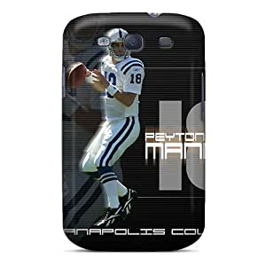 Marycase88 Samsung Galaxy S3 Shockproof Hard Phone Cases Support Personal Customs Stylish Indianapolis Colts Image [Kqs5443CqIu]
