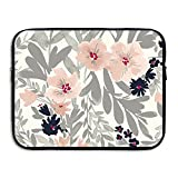 D-MUSE Beautiful Flower Computer Storage Bag Portable Waterproof Neoprene Laptop Sleeve Bag Zipper Pocket Cover Handbag 13 Inch For MacBook Pro, MacBook Air, Notebook