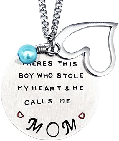 O.RIYA Mother's Day Gift From Son Necklace/Keychain, There Is A Boy Who Stole My Heart, He Calls Me Mom