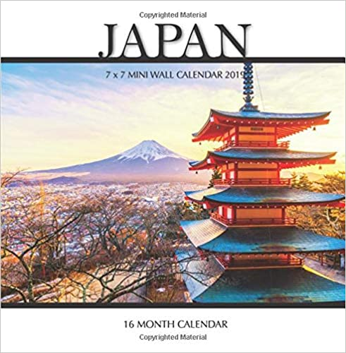 Japan Mini Wall Calendar 2018 16 Month Calendar