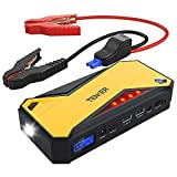 TENKER 600A Peak 18000mAh Portable Car Jump Starter (up to 6.5L Gas/5.2L Diesel Engine) Battery Booster Power Pack, Power Bank with Smart Charging Port, LED Flashlight, LCD Screen & Compass
