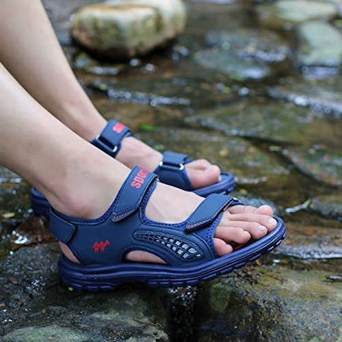 Wear Mens Trekking Outdoor HanWay Anti Skid amp;W H Hiking Blue Sandals Resistant qwEAEX7S