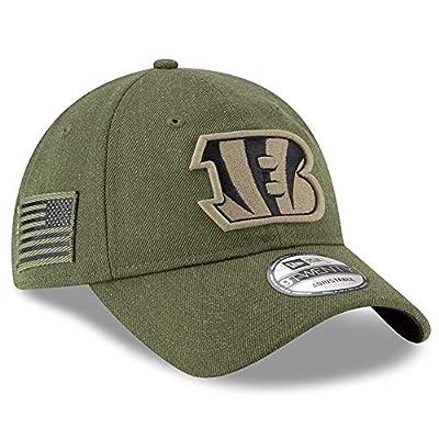 New Era Cincinnati Bengals Olive 2018 Salute to Service Sideline 9TWENTY Adjustable Hat : OSFM