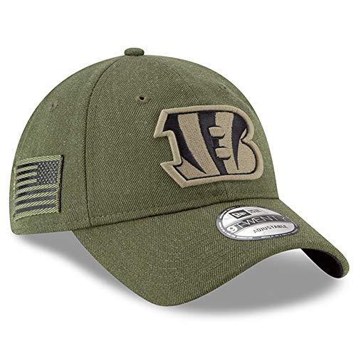 New Era Cincinnati Bengals Olive 2018 Salute to Service Sideline 9TWENTY Adjustable Hat : OSFM ()