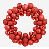 Software : Hot Sale! Clearance!Todaies Christmas 55 Balls Wreath Door Wall Ornament Garland Decoration (34.5734.5CM, Red)