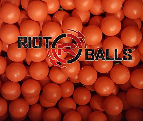 Re-Usable Training Foam Rubber balls 68cal Tac Balls Paintballs - 500 Rounds Red (Paintballs 500)