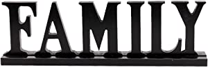 E-view Wooden Family Sign for Home Decor - Decorative Letters Tabletop Word Plaque Home Décor Accents
