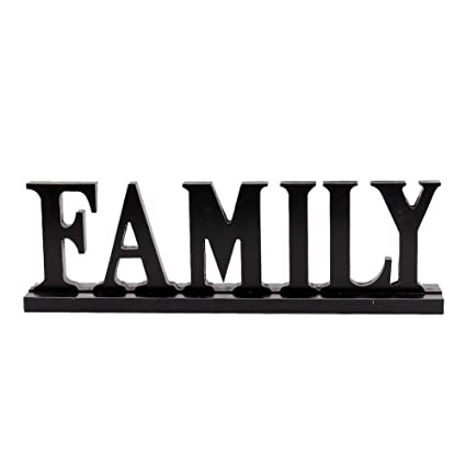Amazoncom Family Sign For Home Decor Wooden Family Block Letters