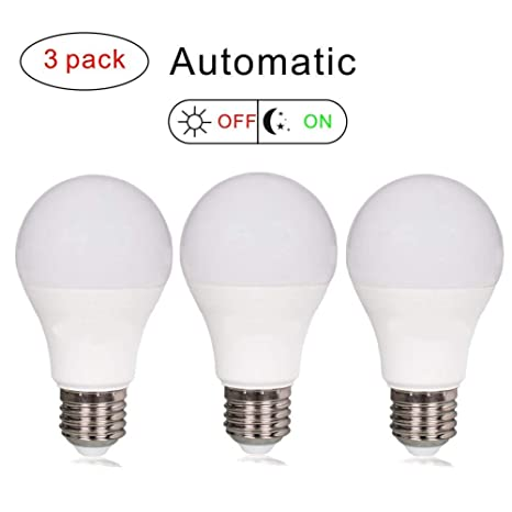 Bombillas LED con sensor de luz para pavimento a amanecer, 7 W, 630 lúmenes, ...