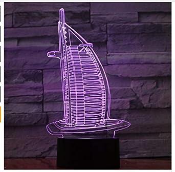 Veilleuse 3D Burj Dubai 3D Night Light Rvb Lampe D'Ambiance