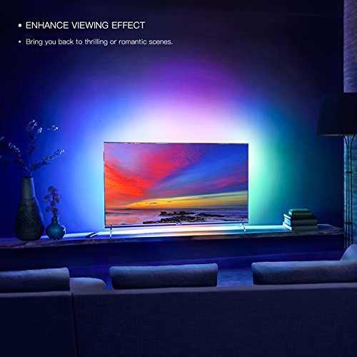 YEELIGHT Smart Wifi LED Lights, Color Changing Light Strip Rope ...