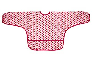 Lässig - Babero con manga larga, color magenta, talla 6-24 meses